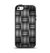 The Black & Gray Woven HD Pattern Apple iPhone 5-5s Otterbox Symmetry Case Skin Set