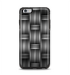 The Black & Gray Woven HD Pattern Apple iPhone 6 Plus Otterbox Symmetry Case Skin Set