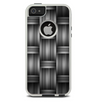 The Black & Gray Woven HD Pattern Skin For The iPhone 5-5s Otterbox Commuter Case