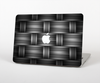 The Black & Gray Woven HD Pattern Skin Set for the Apple MacBook Air 11""
