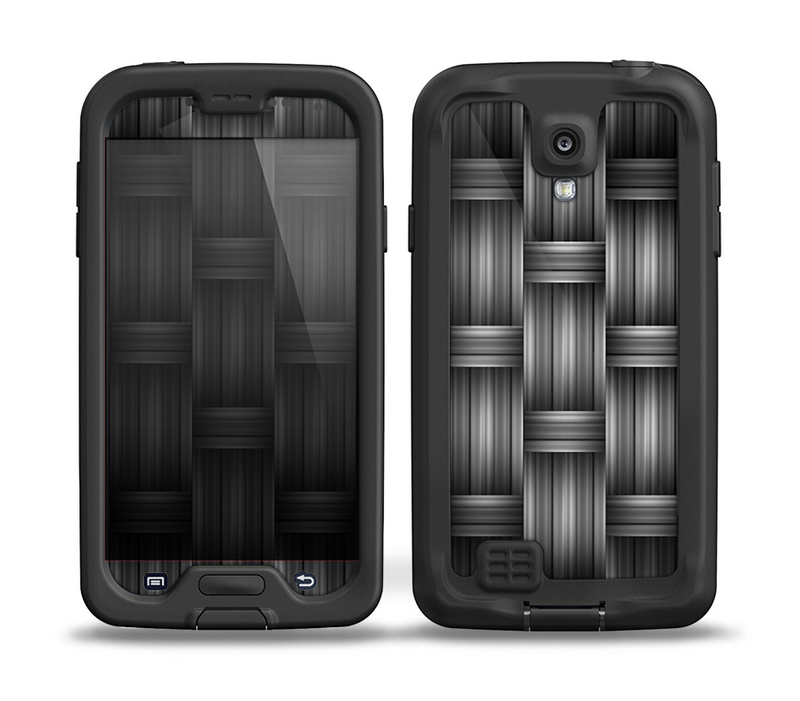 The Black & Gray Woven HD Pattern Skin for the Samsung Galaxy S4 frē LifeProof Case