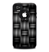 The Black & Gray Woven HD Pattern Skin for the iPhone 4-4s OtterBox Commuter Case