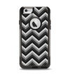 The Black Grayscale Layered Chevron Apple iPhone 6 Otterbox Commuter Case Skin Set