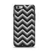 The Black Grayscale Layered Chevron Apple iPhone 6 Otterbox Symmetry Case Skin Set