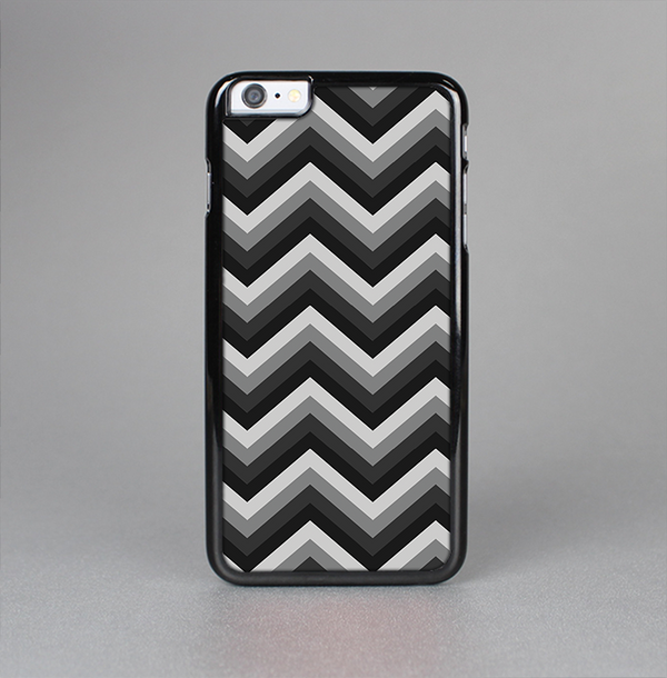 The Black Grayscale Layered Chevron Skin-Sert Case for the Apple iPhone 6 Plus