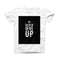 The Black Hammered Never Give Up ink-Fuzed Front Spot Graphic Unisex Soft-Fitted Tee Shirt