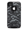The Black Lace Texture Skin for the iPhone 4-4s OtterBox Commuter Case