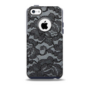 The Black Lace Texture Skin for the iPhone 5c OtterBox Commuter Case