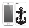 The Black Nautical Anchor Skin for the Apple iPhone 5c