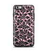 The Black & Pink Floral Design Pattern V2 Apple iPhone 6 Plus Otterbox Symmetry Case Skin Set