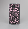 The Black & Pink Floral Design Pattern V2 Skin-Sert Case for the Samsung Galaxy Note 3