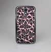 The Black & Pink Floral Design Pattern V2 Skin-Sert Case for the Samsung Galaxy S4