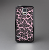 The Black & Pink Floral Design Pattern V2 Skin-Sert Case for the Samsung Galaxy S5