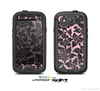 The Black & Pink Floral Design Pattern V2 Skin For The Samsung Galaxy S3 LifeProof Case