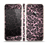 The Black & Pink Floral Design Pattern V2 Skin Set for the Apple iPhone 5s