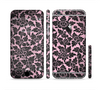 The Black & Pink Floral Design Pattern V2 Sectioned Skin Series for the Apple iPhone 6