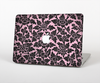 The Black & Pink Floral Design Pattern V2 Skin Set for the Apple MacBook Air 11""