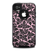 The Black & Pink Floral Design Pattern V2 Skin for the iPhone 4-4s OtterBox Commuter Case