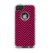 The Black & Pink Sharp Chevron Pattern Apple iPhone 5-5s Otterbox Commuter Case Skin Set