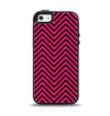 The Black & Pink Sharp Chevron Pattern Apple iPhone 5-5s Otterbox Symmetry Case Skin Set