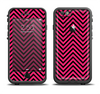 The Black & Pink Sharp Chevron Pattern Apple iPhone 6/6s Plus LifeProof Fre Case Skin Set