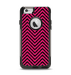 The Black & Pink Sharp Chevron Pattern Apple iPhone 6 Otterbox Commuter Case Skin Set