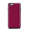 The Black & Pink Sharp Chevron Pattern Apple iPhone 6 Plus Otterbox Symmetry Case Skin Set