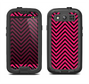 The Black & Pink Sharp Chevron Pattern Samsung Galaxy S4 LifeProof Fre Case Skin Set