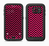 The Black & Pink Sharp Chevron Pattern Full Body Samsung Galaxy S6 LifeProof Fre Case Skin Kit