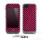 The Black & Pink Sharp Chevron Pattern Skin for the Apple iPhone 5c LifeProof Case