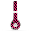 The Black & Pink Sharp Chevron Pattern Skin for the Beats by Dre Solo 2 Headphones