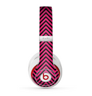 The Black & Pink Sharp Chevron Pattern Skin for the Beats by Dre Studio (2013+ Version) Headphones