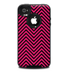 The Black & Pink Sharp Chevron Pattern Skin for the iPhone 4-4s OtterBox Commuter Case