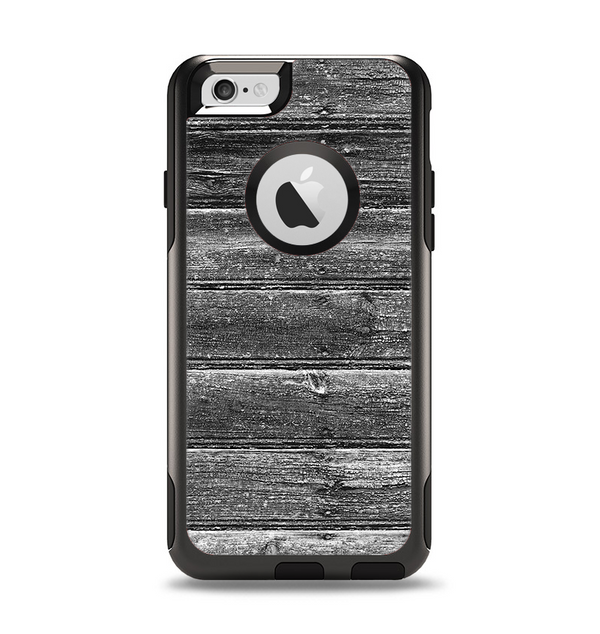 The Black Planks of Wood Apple iPhone 6 Otterbox Commuter Case Skin Set