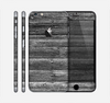 The Black Planks of Wood Skin for the Apple iPhone 6 Plus