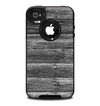 The Black Planks of Wood Skin for the iPhone 4-4s OtterBox Commuter Case