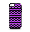 The Black & Purple Chevron Pattern Apple iPhone 5-5s Otterbox Symmetry Case Skin Set