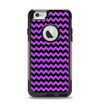 The Black & Purple Chevron Pattern Apple iPhone 6 Otterbox Commuter Case Skin Set