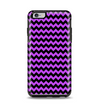The Black & Purple Chevron Pattern Apple iPhone 6 Plus Otterbox Symmetry Case Skin Set