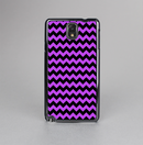 The Black & Purple Chevron Pattern Skin-Sert Case for the Samsung Galaxy Note 3