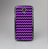 The Black & Purple Chevron Pattern Skin-Sert Case for the Samsung Galaxy S4
