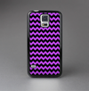 The Black & Purple Chevron Pattern Skin-Sert Case for the Samsung Galaxy S5