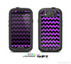 The Black & Purple Chevron Pattern Skin For The Samsung Galaxy S3 LifeProof Case