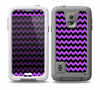 The Black & Purple Chevron Pattern Skin for the Samsung Galaxy S5 frē LifeProof Case
