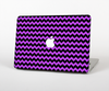 The Black & Purple Chevron Pattern Skin Set for the Apple MacBook Air 11""