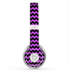 The Black & Purple Chevron Pattern Skin for the Beats by Dre Solo 2 Headphones