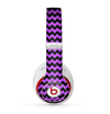 The Black & Purple Chevron Pattern Skin for the Beats by Dre Studio (2013+ Version) Headphones