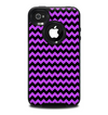 The Black & Purple Chevron Pattern Skin for the iPhone 4-4s OtterBox Commuter Case