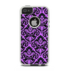 The Black & Purple Delicate Pattern Apple iPhone 5-5s Otterbox Commuter Case Skin Set