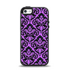 The Black & Purple Delicate Pattern Apple iPhone 5-5s Otterbox Symmetry Case Skin Set